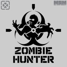 Zombie Hunter Stencil