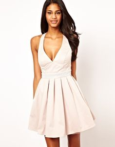 Lipsy Prom Dress with Diamante Waistband in Hush Violet