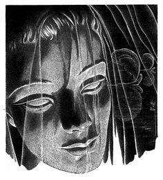 Virgil Finlay, Sibling by Leslie Waltham, Thrilling Wonder Stories 53-08, P.54.