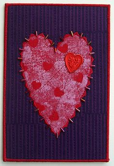 Metallic embellished heart by Diane Herbort
