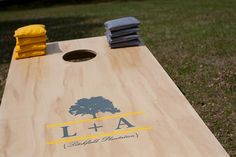 personalized cornhole, rehearsal dinner games, southern rehearsal dinner