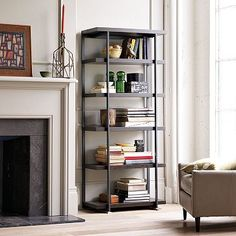 Flat-Bar Bookcase #WestElm
