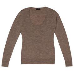 Sandpiper in Cashshade, Slim Fit Scoop Neck Sweater