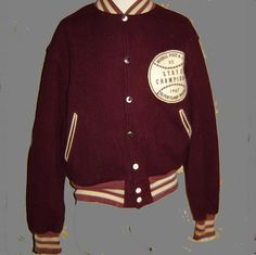 Vintage Wisconsin Letterman Jacket | Pinterest | Coats Home and
