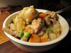 Chicken Stew with Cheddar Parsley Dumplings