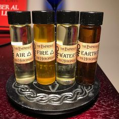 Elemental Magick Set Fire Water Air Earth | Etsy