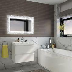 Specchio con cornice viola 500/x 700
