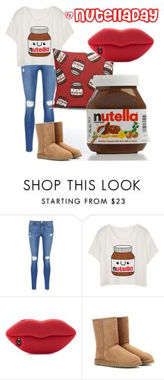 """""""#NutellaDay"""" by luxxdesign ❤ liked on Polyvore featuring Frame Denim, STELLA McCARTNEY, UGG Australia, women's clothing, women, female, woman, misses and juniors"""