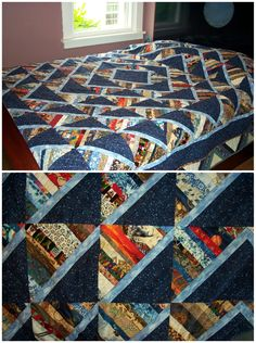 Good pattern to show off a focus fabric while using up scraps, by Linda Nussbaum