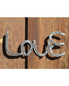 Love is a part of so many things and usually intangible, but now you can have a piece of that love with this wonderful horse shoe love sign. Whether buying it for yourself to add to your home dcor, or as a gift for that someone special, youll never regret this purchase. Each piece is made with care by hand, and since every item made by Rustic and County is cold hand forged, no two pieces are ever exactly alike. Disclaimer: as with any unfinished steel, this item will rust with continued ...