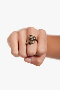 Katniss Ring $7 at www.tobi.com - Pi Phi arrow! #piphi #pibetaphi