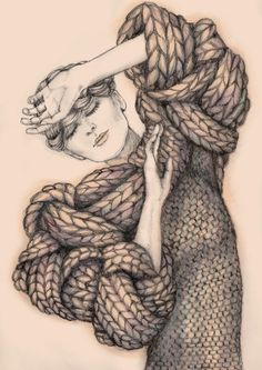Knitwear Illustration by Alexandra Liss, via Behance