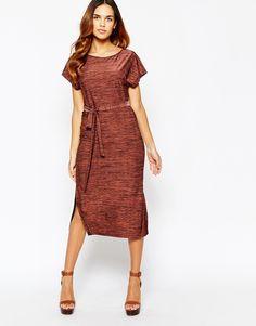 Image 4 ofWarehouse Side Split Midi Dress