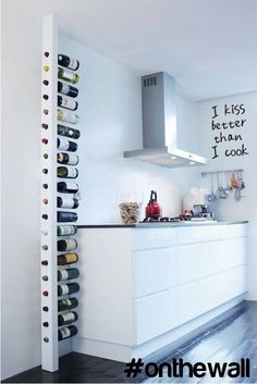 Freestanding floor-to-ceiling wine rack