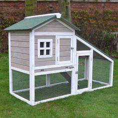 Part of our extensive range, the Bunny Ark Grey Rabbit Hutch and Run is available for FREE delivery on Garden4Less orders over £25!