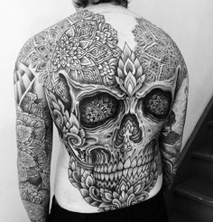 Mandala skull backpiece