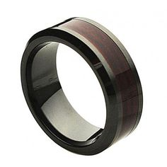 Men are always so much easier to shop for lolol  Ceramic Ring  FREE ENGRAVING  Wedding Wood by Tungstenringusa, $39.99
