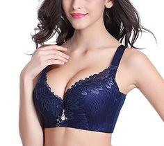 Women's Extreme Support Push Up Bra Brassiere (Underwire Plus Size 36-48 C-D)