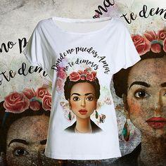 T-shirt Frida kahlo maglietta art tee woman di UnconventionalTees su Etsy