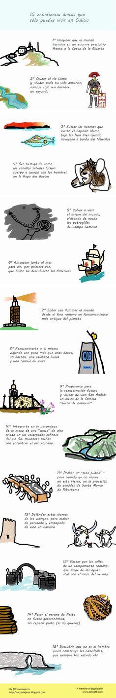15 experiencias únicas que solo puedes vivir en Galicia - infografía