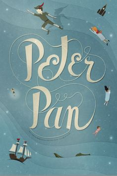 Peter Pan Poster by Alex Sanders, via Behance