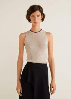 Damen Top Beige, Mango Fashion, Bustier, Fashion Online, Basic Tank Top, Latest Trends, Cool Outfits, Ballet Skirt, Knitting