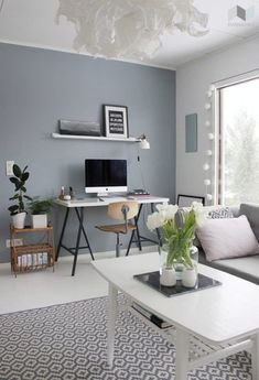 If you are planning to paint your home with a new color just in time for spring, blue is the perfect choice for you. Weather you pick dark blue or baby blue, this beautiful color is chic, calm and per