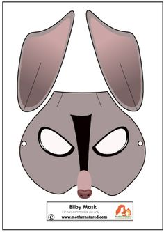 Bilby Mask Printable