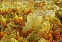 Saffron coloured sulphur in the Afar Depression!