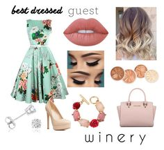"""Best Dressed Guest: Winery"" by blue-eyed-beauty13 ❤ liked on Polyvore featuring Lime Crime, Charlotte Russe, Michael Kors, Oscar de la Renta and Amanda Rose Collection"