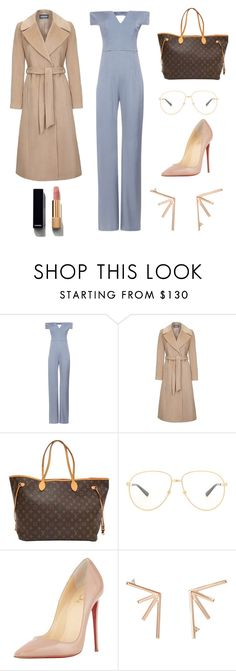"""""""Untitled #1191"""" by christawallace ❤ liked on Polyvore featuring Galvan, Louis Vuitton, Gucci, Christian Louboutin, Eva Fehren and Chanel"""