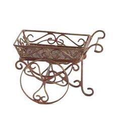 Fairy Garden Copper Cart