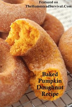 Baked Pumpkin Donuts - With their brilliant orange color, pleasingly moist texture, and delightful pumpkin flavor. I don't like donuts, but I love pumpkin this much! Fall Recipes, Holiday Recipes, Autumn Recipes Dinner, Dinner Ideas Healthy, Love Food, Dessert Recipes, Dessert Healthy, Drink Recipes, Food And Drink