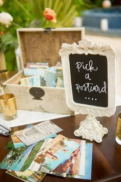 postcard guest book - photo by Cynthia Rose Photography