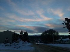Fort McMurray Winter dusk!
