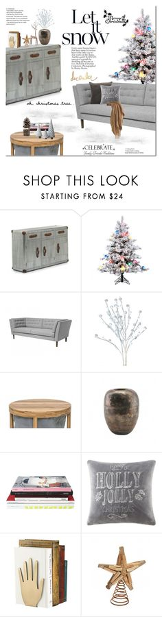 """""""Christmas Season"""" by vivalagoon ❤ liked on Polyvore featuring interior, interiors, interior design, home, home decor, interior decorating, House Doctor, Madison Park, Kate Spade and Heidi Swapp"""