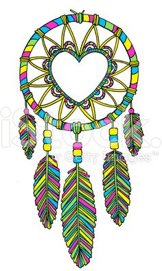 Dreamcatcher Heart royalty-free stock vector art