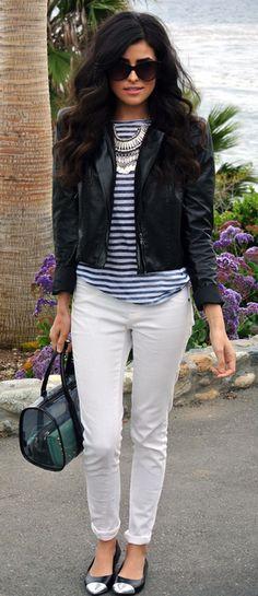 Smart casual, I like her hair too :)
