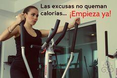 """""""Las excusas no queman calorías.. ¡Empieza Ya!"""" -Elíptica M5, ¿La Haz Probado?  Pide tu clase Muestra Para Cualquier Clase + Gym!!  #Anthal #gym #eliptica #m5 #trc #Anthalgym"""