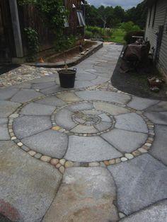 This type of photo can be a very inspirational and really good idea Garden Crafts, Garden Projects, Garden Art, Garden Beds, Labyrinth Garden, Meditation Garden, Garden Cottage, Plein Air, Backyard Landscaping