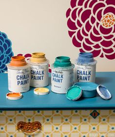 Stenciling furniture with Chalk Paint® decorative paint and stencils from Royal Design Studio