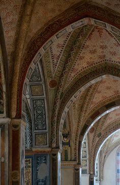 Arches of Santa Maria delle Grazie, Milan, Italy Milan Travel, Modern Skyscrapers, Best Of Italy, Ceiling Detail, Church Architecture, Unique Buildings, Italian Beauty, The Beautiful Country, Milan Italy
