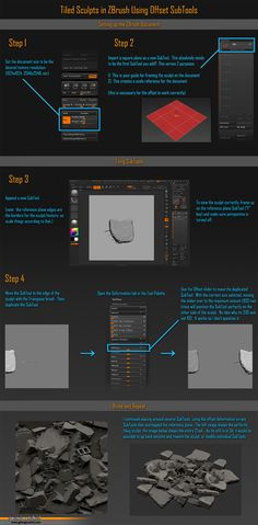Tutorial on Zbrush Tiling Textures
