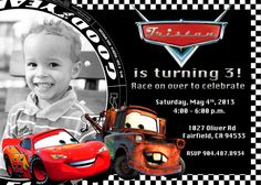Disney Cars Lightning McQueen Mater Birthday By PrettyPaperPixels 899 Invitations 2nd