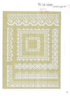 Lacy cross stitch borders