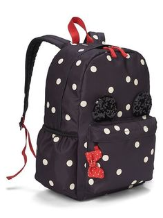 A very special collaboration between Gap and Disney—two timeless, iconic American brands— led us to create a collection that celebrates Mickey Mouse and Minnie Mouse. Minnie Mouse Backpack, Mickey Mouse Outfit, Mickey Y Minnie, Disney Handbags, Disney Purse, Purses And Handbags, Cute Backpacks, Girl Backpacks, Backpack Decoration