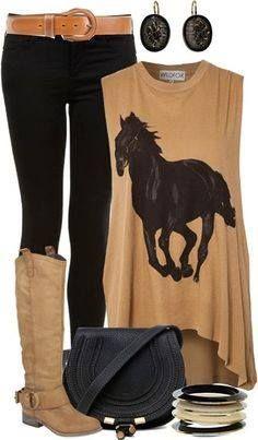 Look casual - jean negro y polo beige