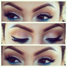 blue under eye liner - the new fad for fall