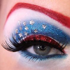 4th of July makeup - pretty gutsy for an old lady :) , but maybe I'll try it just for fun!