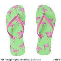 Pink Flamingo Tropical Christmas Pattern